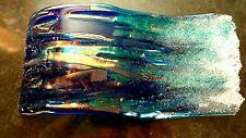 Waves-pequeño hecho a mano de cristal fundida escultura de Sandra Kerr