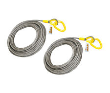 """2 Pieces - Roll Off Cable for Container Truck 6x26 Steel Core 7/8"""" x 82'"""