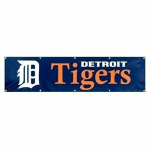 DETROIT TIGERS Flag Banner 8 FEET LONG X 2 FOOT Premium Quality Grommets New