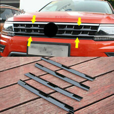 Black Grille Trim Stripe Grille Bar Cover Clips For Volkswagen VW Tiguan 2017-19