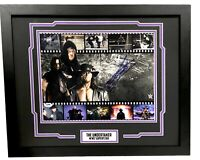 WWE UNDERTAKER HAND SIGNED AUTOGRAPHED 11X14 PHOTO FRAMED PLAQUE WITH PSA COA