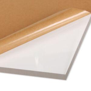 "1/4"" (6mm) Clear Cast Acrylic Plexiglass 12"" x12"" Sheet (0.236"" Thick) AZM"
