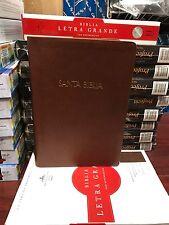 Biblia reiana valera Letra Grande, Chocolate Símil Piel fabrica con referencias