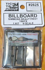 "Tichy Train Group #2625 (N Scale) Billboard ""Ony Simmons makes Beautyrest"" 60's"
