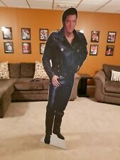Elvis Presley Black Leather Suit Lifesize Cardboard Cutout Standee Poster Prop