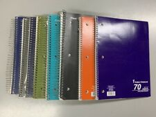 Lot of 8 Five Star Subject Notebooks College Ruled Spiral - 600+ Sheets - Used