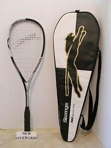 Slazenger Pro Titanium 160g Squash Racquet - EUC & Extras
