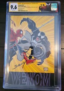 Venom 25 1:100 CGC SS 9.6 SS DOUBLE Signed & SKETCHED Mark Bagley
