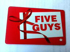 Five Guys Restaurant Gift Card  NO VALUE RECHARGEABLE !