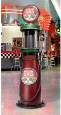 6 Ft Vintage Retro Gas Pump Metal Replica Petroliana Reproduction Statue ~ 1920s