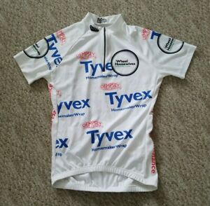 EUC Mt. Borah Women's Tyvex Short Sleeve 1/2 Zip Cycling Jersey White Large L