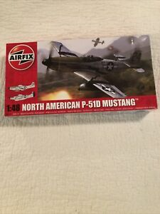 Airfix North American P-51D Mustang Plastic Model Kit, 1/48 Scale