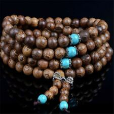 Sandalwood Buddhist Buddha Meditation Prayer 6mm Bead Mala Bracelet Necklace +