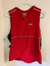 Louis Garneau Sleeveless Men's Triathlon Top Red  - Size XL