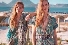 ETRO Milano Paisley Baumwolle Top Tunika Kleid Cover Up Kaftan Sz L/XL Large/XL