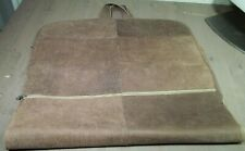 Vintage Pigskin Hanging Leather Zippered Travel Carry On Garment Bag Handmade