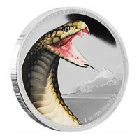 2016 Niue 1 oz. Silver Coin Kings Of The Continents - King Cobra