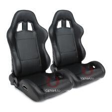 Cipher Auto Racing Seats -Black Leatherette - Pair
