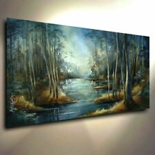 Relaxing Landscape Mix Lang Art abstract Giclee canvas print PAINTING Contempor
