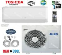 12,000 BTU AC Air Conditioner, Heat Pump Mini Split 220V 1 ton W/KIT & WIFI