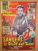 Edgar Wallace Sanders und das Schiff des Todes Filmplakat 60x80cm gefaltet