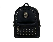 MINI GOTHIC SKULL HEAD GOTHX Black Backpack Rucksack Steam Punk Rock Goth Bag