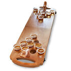 New HAMMER & AXE Mini Wooden BEER PONG GAME w 25 Cups Portable Foldable Imported