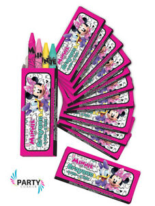 Minnie Mouse Party Supplies Favours CRAYONS BOXES Pack Of 12
