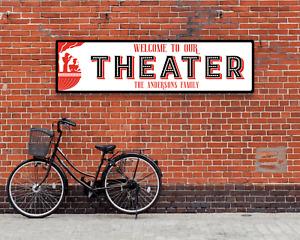 Vintage Retro Home Theater Movie Metal Sign Unique Wall Decor Customized Plaque