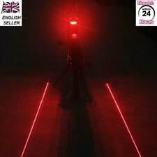 5 LED Laser Cycling Bike Light Rear Lamp Waterproof Laser Tail Warns Flashing