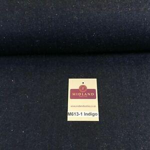 """14oz Heavyweight Denim indigo Blue Heavyweight 100% Cotton Fabric 58"""" M613 Mtex"""