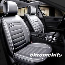VW Golf Polo Tiguan Touran Deluxe Grey PU Leather Front Seat Covers