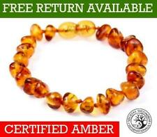 Genuine Baltic Amber Small to Large Bracelet / Anklet Knotted Beads 11 - 27 cm