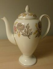 "Wedgwood bone china ""Lichfield"" coffee pot w4156 (red mark).  Perfect condition."
