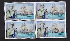 polynesia 2015  stamps 1765 discovery of king Georges islands. Block of 4. MUH