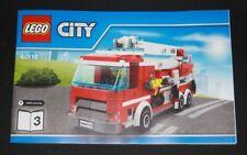 Notice - Lego CITY - Camion de pompier - 60110