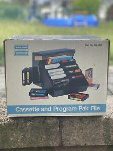 Radio Shack TRS-80 Cassette and Program Pak File in Box Storage Organizer Carts