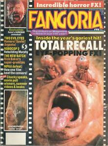 FANGORIA MAGAZINE #95 TOTAL RECALL, TWO EVIL EYES, ROBOCOP 2, CHUCKY SPEAKS
