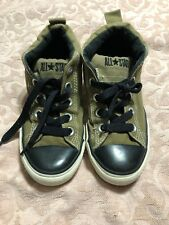 Converse All Star Chuck Taylor Army Green Hightops Size Y 1 - Slip On or Laces
