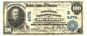 1902 $100 The First NB of BUTLER-