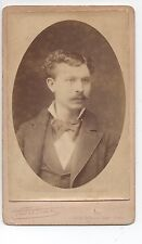Cdv Photo Pierre Petit Paris 1880 Bourgeois Moustache Dédicace