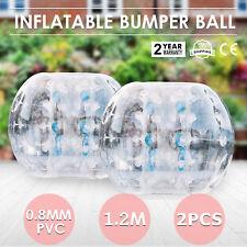 2 pièce 1.2M Bumper Bubble Balls Zorb Soccer Boule Ballon Adulte enfant Pelouse