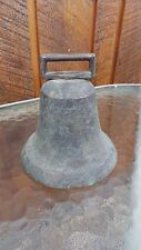 """Vintage Brass Horse Bell Large 4"""" High Beautiful Patina"""