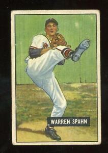 1951 Bowman #134 Warren Spahn - Boston Braves - HOF