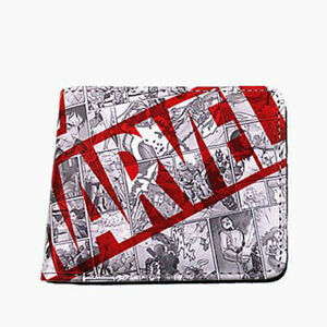 Marvel Avengers Deadpool Comic Strip Leather Slim Wallet Card Holder Gift