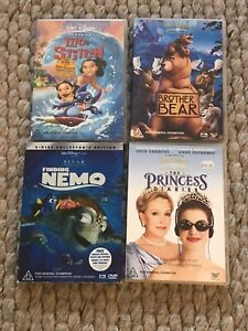 4 Disney DVDs: The Princess Diaries, Finding Nemo, Brother Bear & Lilo & Stitch