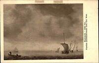 """Künstlerkarte Kunstverlag Wolfrum Wien ~1910 Maler Rembrandt """"Stille See"""" Schiff"""