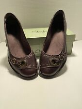 Clarks Bendables Rustic Cliff 8.5 M Dark Brown Leather 31210 Flats New with Box