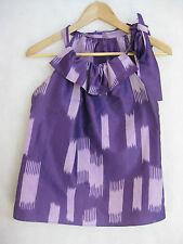 Seed of Scarlet Size 8 10 Purple Silk Designer Top