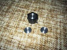 Set of Spun Aluminum Knob inlays for Collins 30L-1 AMP